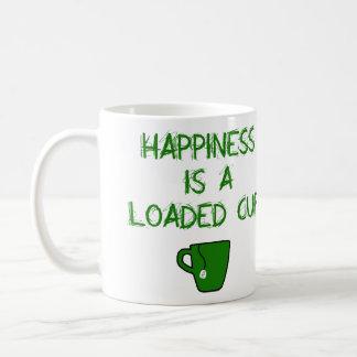 Caneca De Café A felicidade é um copo carregado