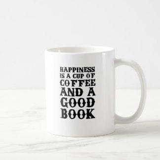 Caneca De Café A felicidade é uma chávena de café e um bom livro