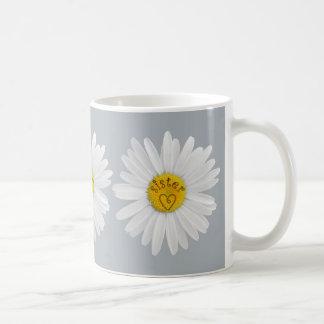 Caneca De Café A flor da margarida para a arte da irmã