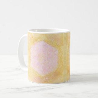 Caneca De Café A flor da vida, da geometria sagrado - rosa & do