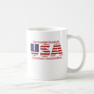 Caneca De Café A grande geração de América
