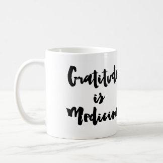 Caneca De Café A gratitude é medicina