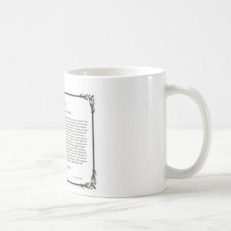 Caneca De Café A inspiração de Mug=Daily do café do poema dos