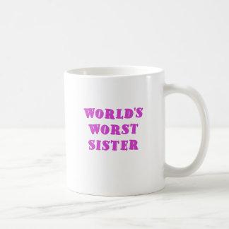Caneca De Café A irmã a mais má dos mundos