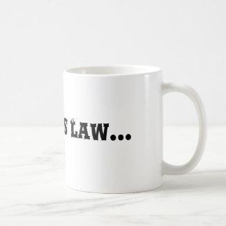 Caneca De Café A lei de Murphy…