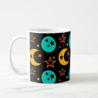Caneca De Café A lua Stars a astrologia estrelado Wiccan da