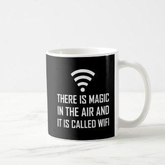 Caneca De Café A mágica no ar é Wifi