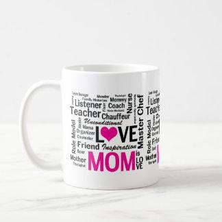 Caneca De Café A mamã é presente do dia das mães do amor para