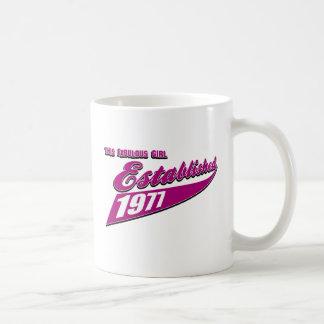 Caneca De Café A menina fabulosa estabeleceu 1977