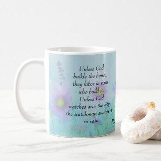 Caneca De Café A menos que o deus construir a casa, 127:1 dos