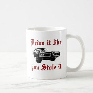 Caneca De Café A movimentação que gosta de você roubou-o - muscle