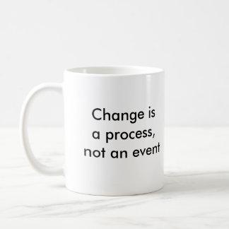 Caneca De Café A mudança é um processo, não um evento