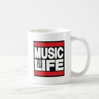 Caneca De Café A música é meu vermelho da vida