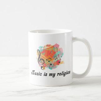 Caneca De Café A música é minha religião