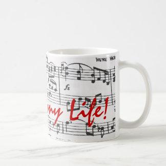 Caneca De Café A música é minha vida