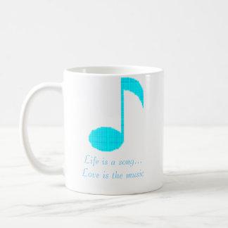 Caneca De Café a nota 1 da música, vida é um amor da canção… é a
