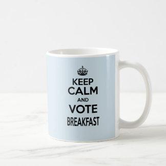 Caneca De Café A nuvem a mais pequena mantem a calma e vota a
