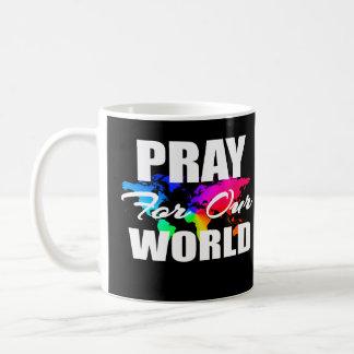 Caneca De Café A oração cristã do mundo da fé Pray para nosso