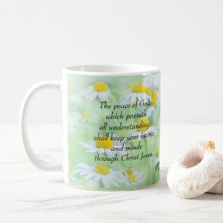 Caneca De Café A paz do deus - 4:7 dos Philippians