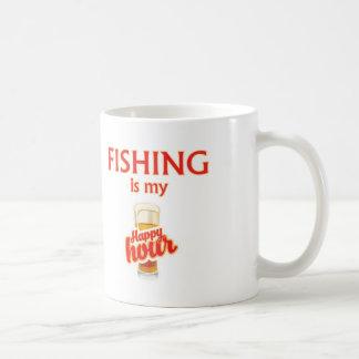 Caneca De Café A pesca é meu happy hour
