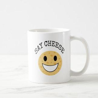 Caneca De Café a piada bonito engraçada diz o queijo