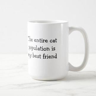 Caneca De Café A população inteira do gato é meu melhor amigo