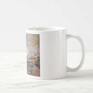 Caneca De Café A praia em Etretat - Claude Monet