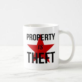 Caneca De Café A propriedade é roubo - comunista socialista do