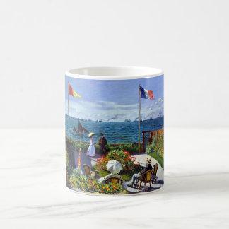 Caneca De Café À Sainte-Adresse de Jardin por Claude Monet