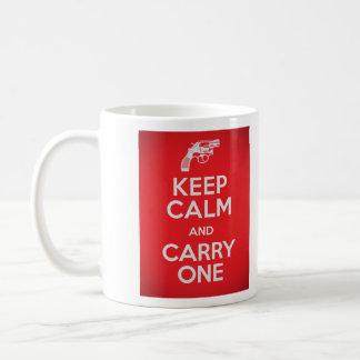 Caneca De Café A segunda alteração mantem a calma e leva uma