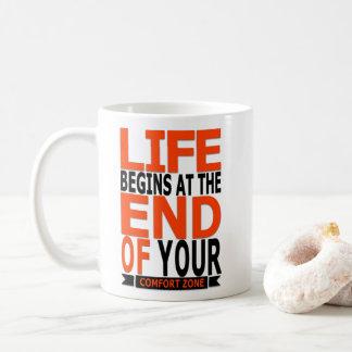 Caneca De Café A vida começa no fim de sua zona de conforto