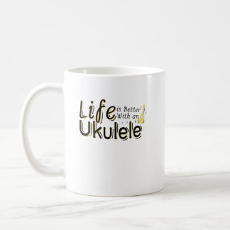 Caneca De Café A vida é melhor com um melómano de Uke do Ukulele