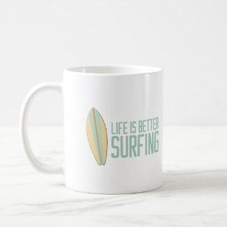 Caneca De Café A vida é melhor surfar!