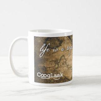 Caneca De Café A vida é uma viagem com o tempo | Cooglaak