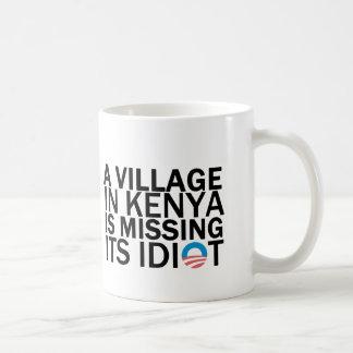 Caneca De Café A vila em Kenya está faltando seu idiota