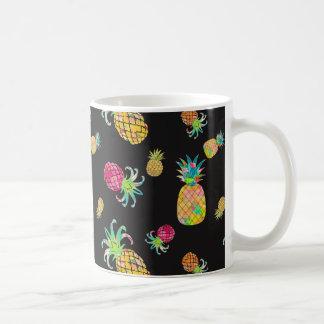 Caneca De Café Abacaxi de PixDezines Aloha+Aguarela floral
