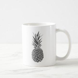 Caneca De Café Abacaxi preto & branco minimalista