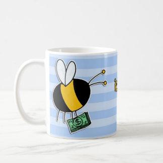 Caneca De Café abelha de trabalhador - banqueiro
