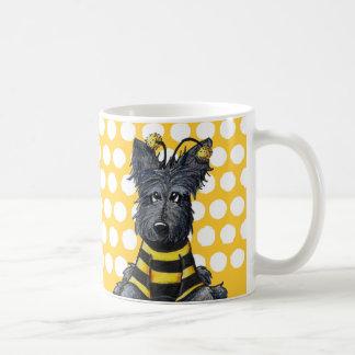Caneca De Café Abelha do cão do Scottie
