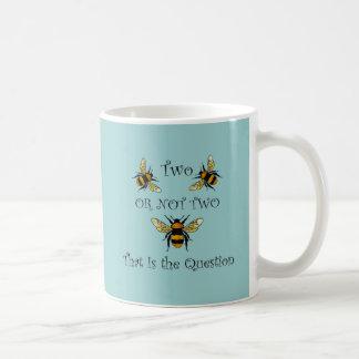 Caneca De Café Abelha dois abelha ou não dois