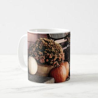 Caneca De Café Abóboras de Nova Inglaterra no outono