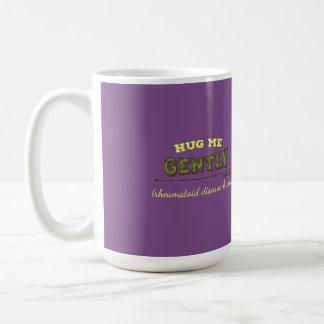 Caneca De Café Abrace-me delicadamente que os danos reumatóides
