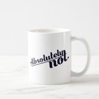 Caneca De Café Absolutamente não