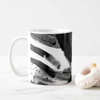Caneca De Café Abstracção preto e branco