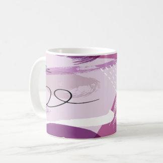 Caneca de café abstrata dos Splotches roxos