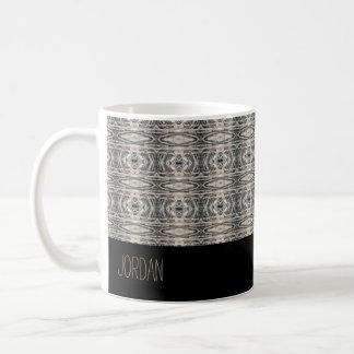 Caneca De Café Abstrato calmo teste padrão Textured