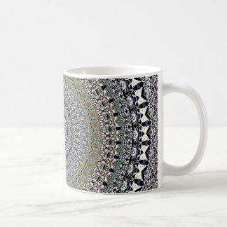 Caneca De Café Abstrato concêntrico ornamentado
