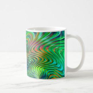 Caneca De Café Abstrato do verde esmeralda
