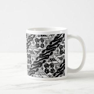 Caneca De Café Abstrato e teste padrão clássico ornamentado
