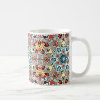 Caneca De Café Abstrato estrutural do caleidoscópio